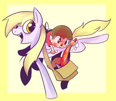 the villager and derpy by Spanish-Scoot