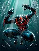 Spiderman 2099 by jlcomix