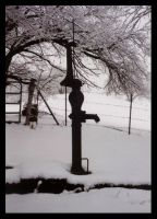Water Pump in Snow by NiennaAlatariel