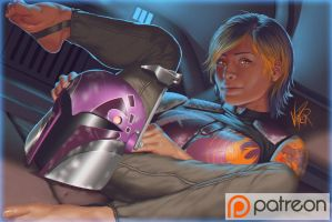 Star Wars Rebels - Sabine by ViiPerArt