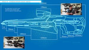 Halo 4 : Forerunner Light Rifle blueprints by CpCody