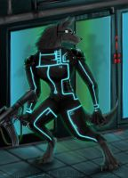 Me, I am a Spy Werewolf Tron in my dream ! by Dark-Skadia