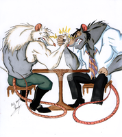 Arm-wrestling. Rats by VDupLEX