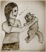 Katniss and Buttercup by Munchkinmay