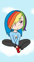 Lil RainbowDash Human by DeadBunny16