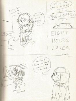 Digimon Cyber Sleuth comic by animatedrose