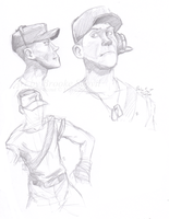 TF2 Scout -studies- by birdofyore