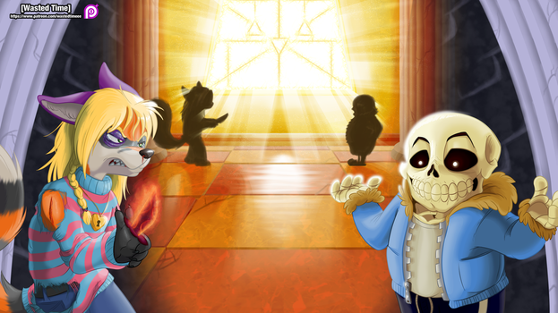 Desmond Vs Sans (Commission by WastedTimeEE