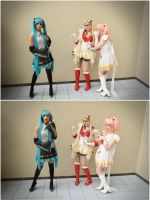 Sailor Moon and Chibiusa Vs. Miku ? by iiRainbowCake