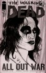 Walking Dead-The Crow Mash Up Sketch Cover by rodneyfyke
