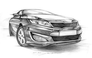KIA K5 Car Sketch Practice by darkdamage
