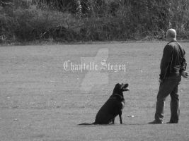 A man and his dog 9060 by Maxine190889