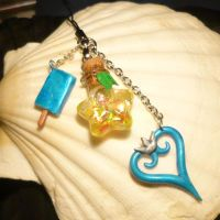 Kingdom Hearts II - handmade Keycharms by Ganjamira