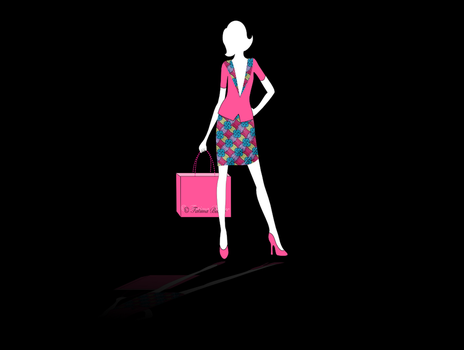 Vector Business Woman shopping by ummi87