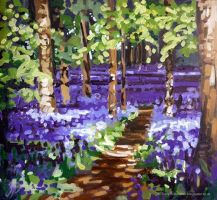 Bluebell Stroll by tracybutlerart