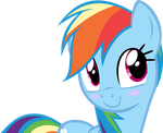 Rainbow Dash looking Adorable by Jerick