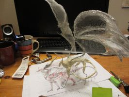 Dragon WIP 1 - Armature! by Dragina-Draona