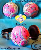 Jigglypuff Headphones 2.0 by Iheartnella