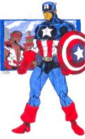 Captain America by thincage by CDL113