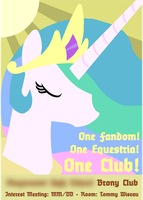 Brony Club Recruitment Poster by RocketmanTan