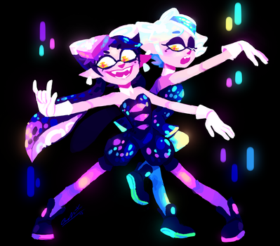 Squid Sisters by TigerCubMia