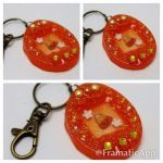Candy Corn Tamagotchi Charm by TiellaNicole