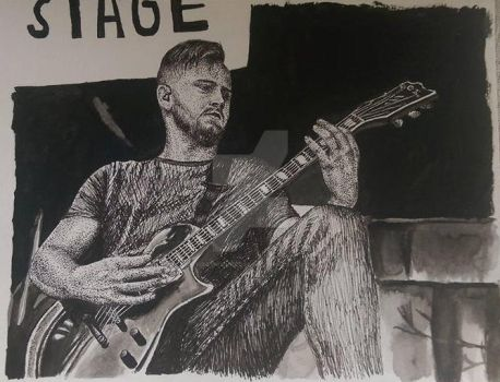 Ink Drawing - Eric Lambert by ThrowYourRoses