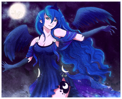 Princess Luna - Lady of the Night by Lionel23