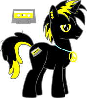 8th free Pony Request - Neon Cassette by Chumi-chan