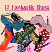 12 Fantastic Shoes PNG Pack 1 by paumyself