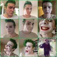 Smilex Joker makeup steps by SmilexVillainco