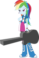 Vector - Rainbow Dash is not impressed by SketchMCreations