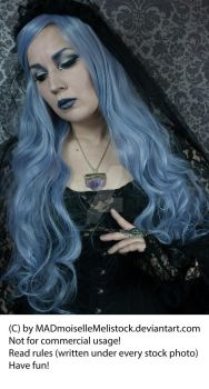 Lavender Goth Stock 006 by MADmoiselleMeliStock
