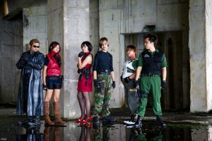 Resident Evil Group Shoot 6 by aiko-mizuno