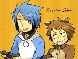 mordecai and rigby by fanartmordecool