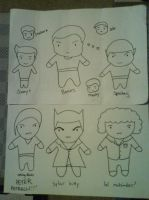 Star Trek and Heroes doodles by black-lupin
