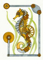 Steampunk Seahorse by NoraBlansett