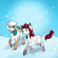 Snow Buddies by Rannarbananar