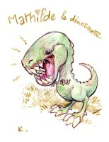 Mathilde the dinosaur by kiwine
