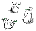 Little Totoro Doodles by AncientRaven