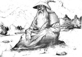 Gandalf the Grey by Ori-Clayfoot