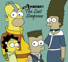 Simpsons-Avatar Crossover by ShizumasLover