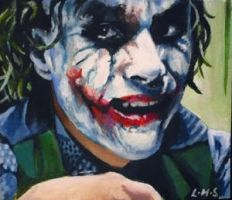 Joker side glance ACEO by sullen-skrewt