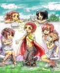 satyr and muses by SkivTheGreat