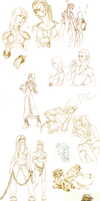 ugly sketches dump by SabienStrange