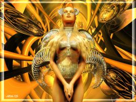Cyber Angel by Aral3D