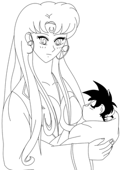 Breastfeeding Jr Uncolored by DBZForever