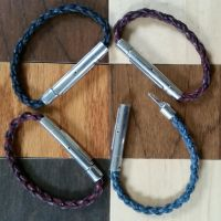 Braided Leather Carabiners by passbyguy