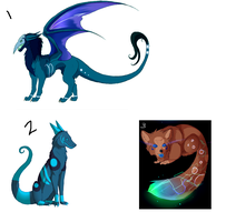 Creature Adoptables :Open: by WulfyAdopts