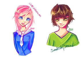 LDShadowLady and SmallishBeans by ArisaManuko